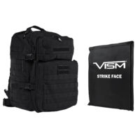 VISM® by NcSTAR® ASSAULT BACKPACK WITH 11″x14″ LEVEL IIIA SOFT BALLISTIC PANEL/ BLACK