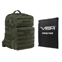 VISM® by NcSTAR® ASSAULT BACKPACK WITH 11″x14″ LEVEL IIIA SOFT BALLISTIC PANEL/ GREEN