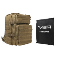 VISM® by NcSTAR® ASSAULT BACKPACK WITH 11″x14″ LEVEL IIIA SOFT BALLISTIC PANEL/ TAN