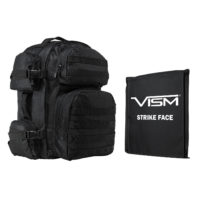 VISM® by NcSTAR® TACTICAL BACKPACK WITH 10″x12″ LEVEL IIIA SOFT BALLISTIC PANEL/ BLACK