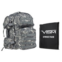 VISM® by NcSTAR® TACTICAL BACKPACK WITH 10″x12″ LEVEL IIIA SOFT BALLISTIC PANEL/ DIGITAL CAMO